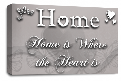 Home Quote Wall Art Picture Powder Grey Love Print